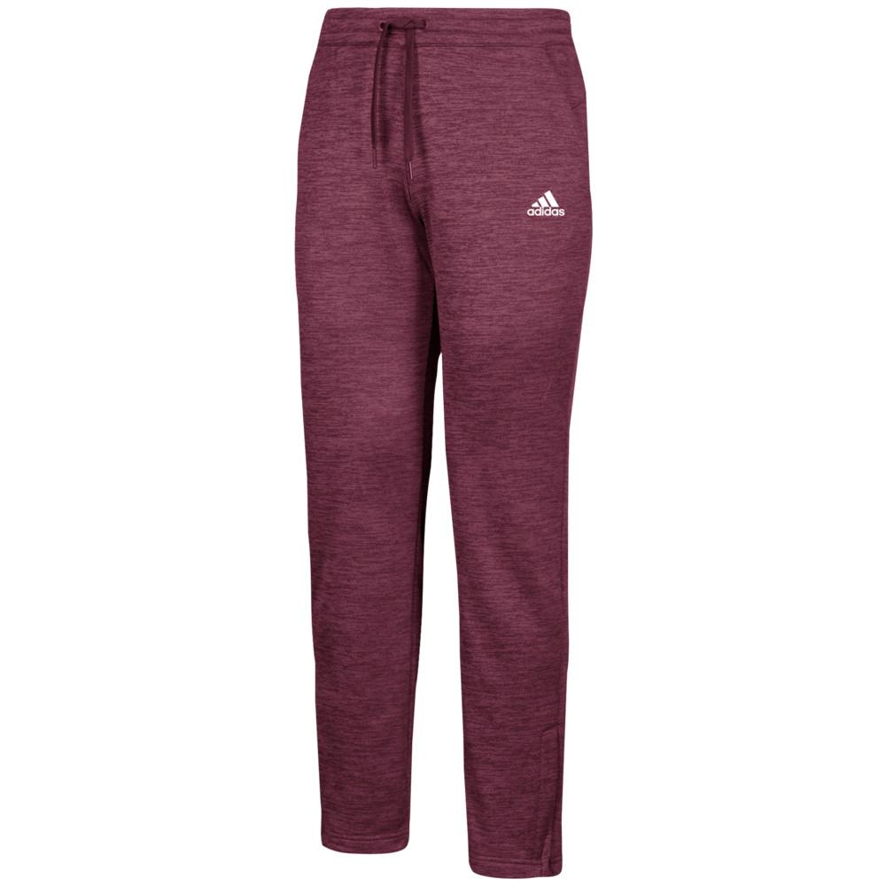 アディダス adidas メンズ フィットネス・トレーニング ボトムス・パンツ【Team Issue Fleece Pants】Maroon/White