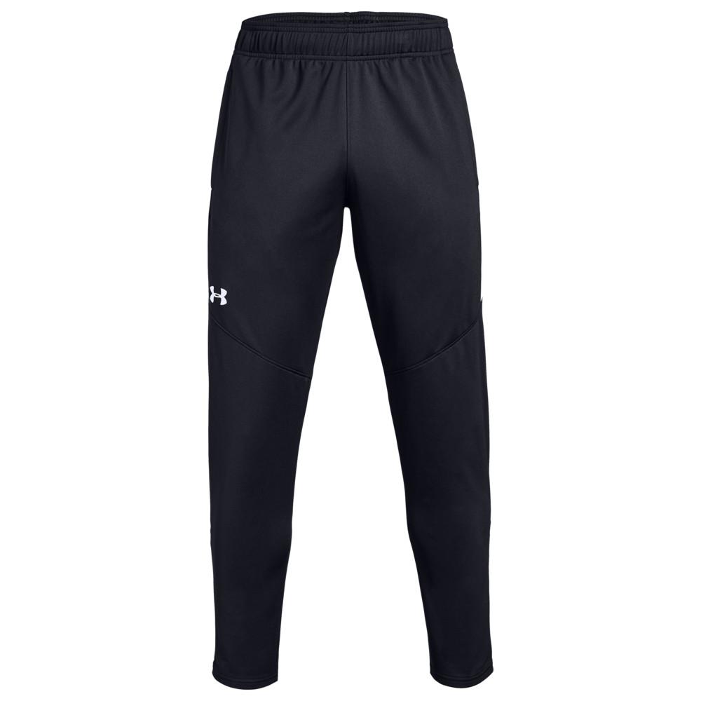 アンダーアーマー Under Armour Team メンズ フィットネス・トレーニング ボトムス・パンツ【Team Rival Knit Warm-Up Pants】Black/White
