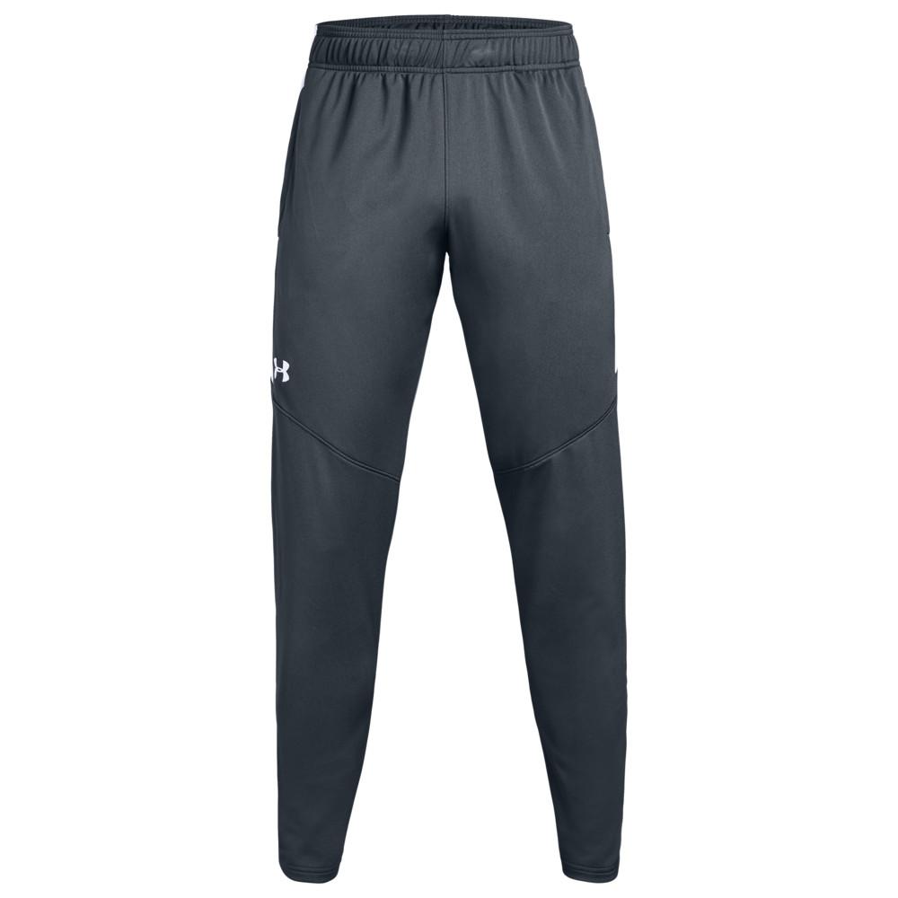 アンダーアーマー Under Armour Team メンズ フィットネス・トレーニング ボトムス・パンツ【Team Rival Knit Warm-Up Pants】Steel Grey/White