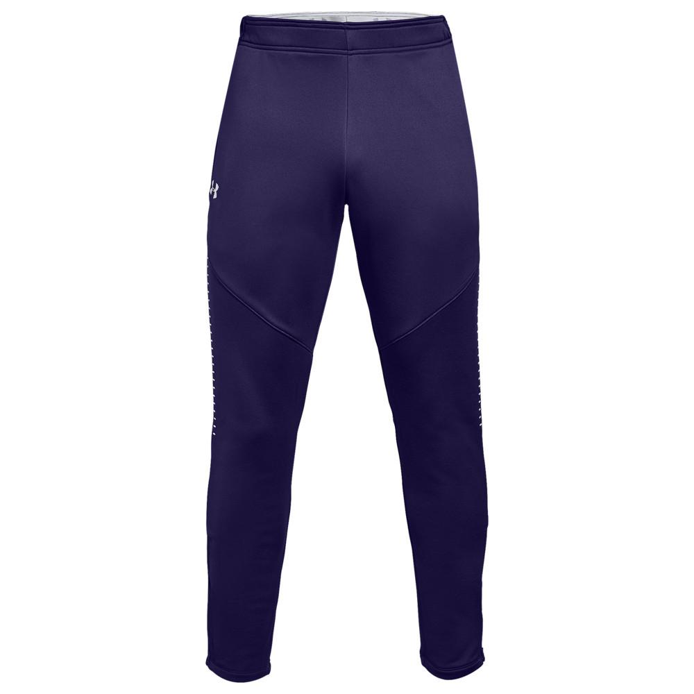 アンダーアーマー Under Armour メンズ フィットネス・トレーニング ボトムス・パンツ【Team Qualifier Hybrid Warm-Up Pants】Purple/White