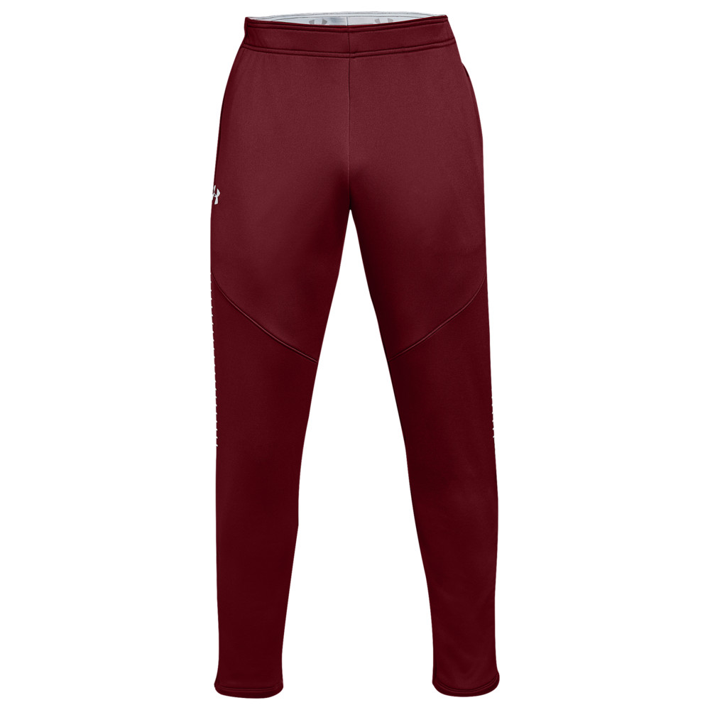 アンダーアーマー Under Armour メンズ フィットネス・トレーニング ボトムス・パンツ【Team Qualifier Hybrid Warm-Up Pants】Cardinal/White