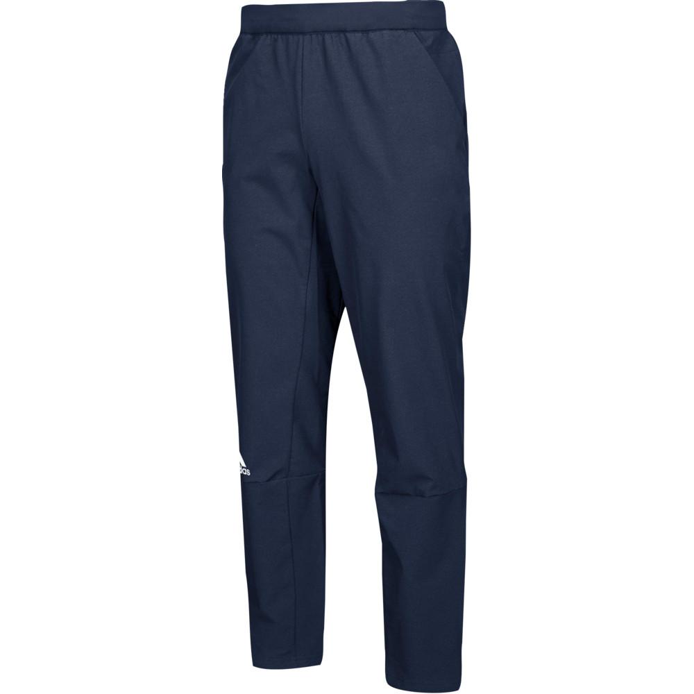 アディダス adidas メンズ フィットネス・トレーニング ボトムス・パンツ【Team Squad Woven Pants】Colliegiate Navy/White