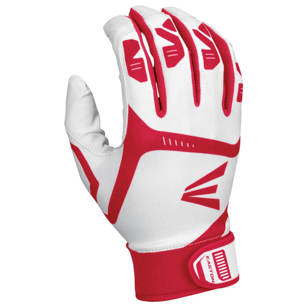 イーストン Easton メンズ 野球 バッティンググローブ グローブ【Gametime Batting Gloves】White/Red
