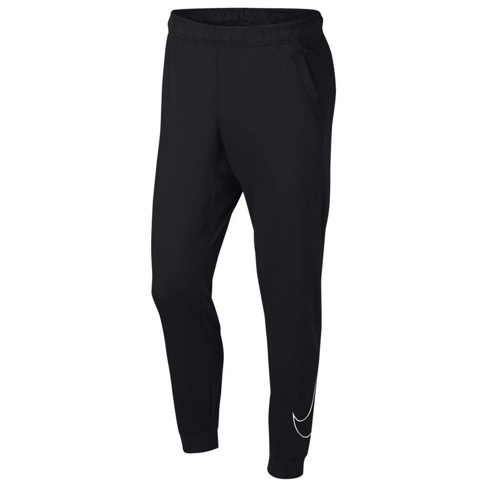 ナイキ Nike メンズ フィットネス・トレーニング ボトムス・パンツ【Lightweight Fleece Swoosh Pants】Black/White