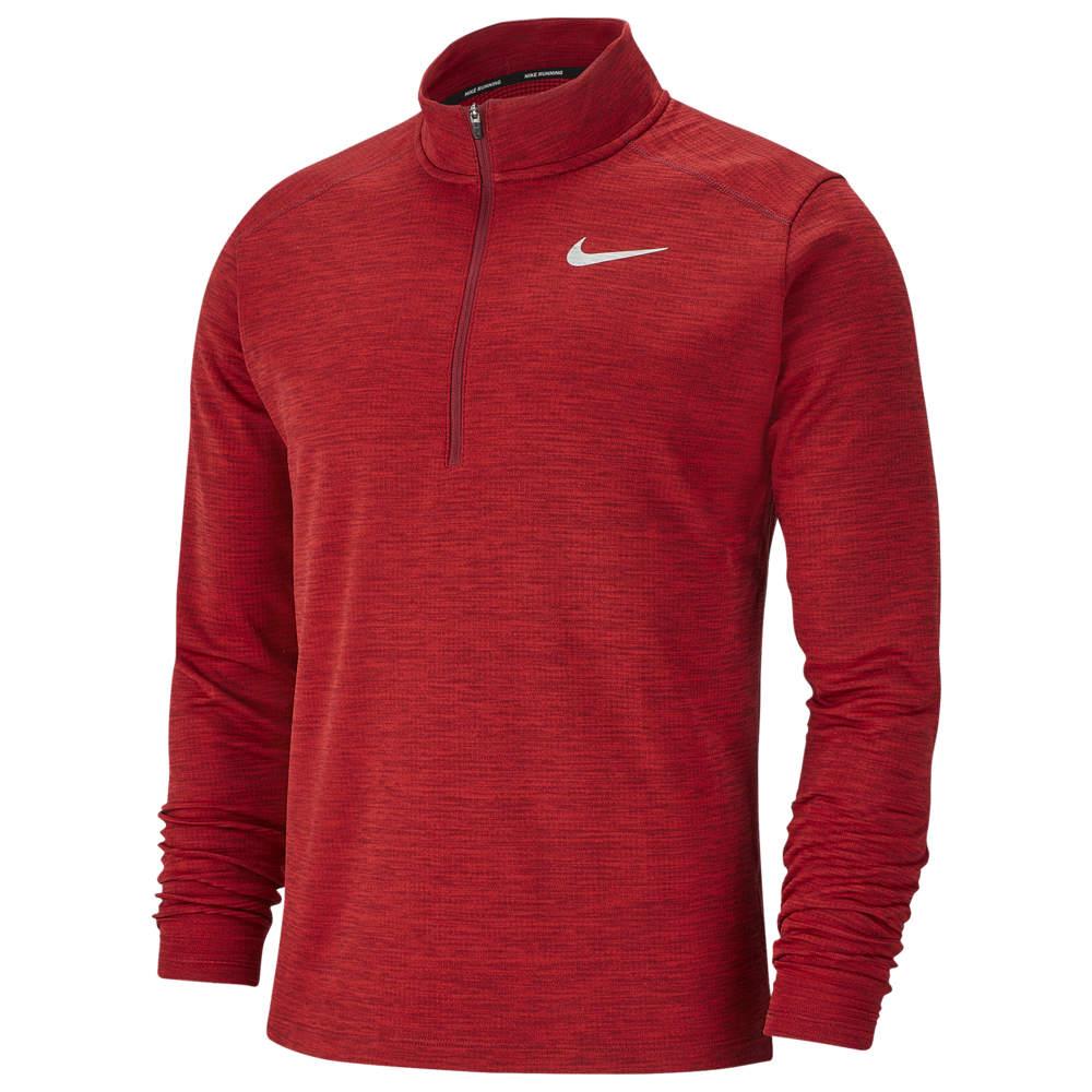 ナイキ Nike メンズ ランニング・ウォーキング ハーフジップ トップス【Pacer 1/2 Zip Top】Team Red/University Red/Reflective Silver