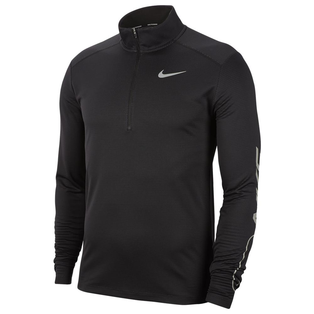 ナイキ Nike メンズ ランニング・ウォーキング ハーフジップ トップス【Pacer 1/2 Zip Top】Black/Iron Grey/Reflective Silver Flash Pack