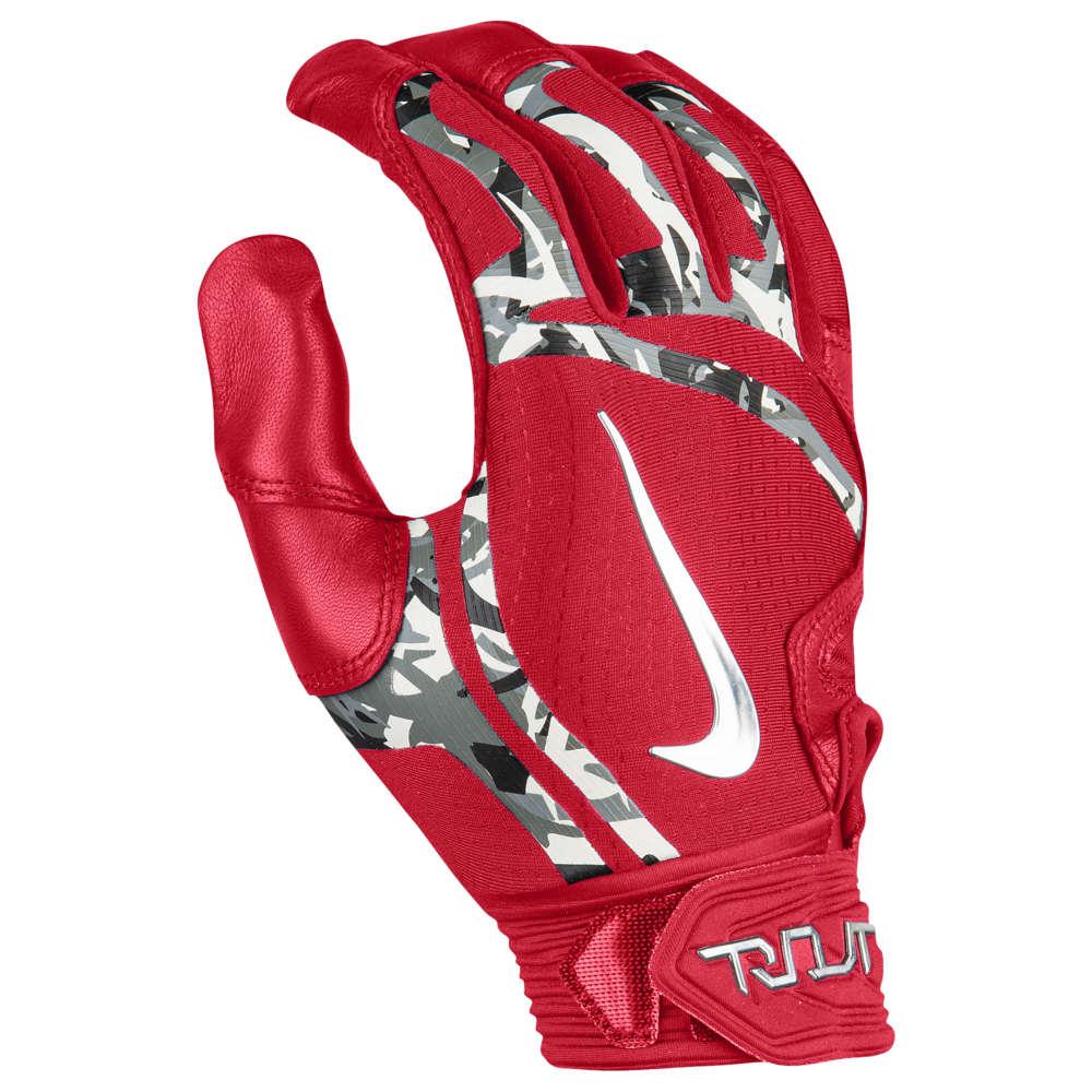 ナイキ Nike メンズ 野球 バッティンググローブ グローブ【Trout Elite Batting Gloves】University Red/University Red/Chrome