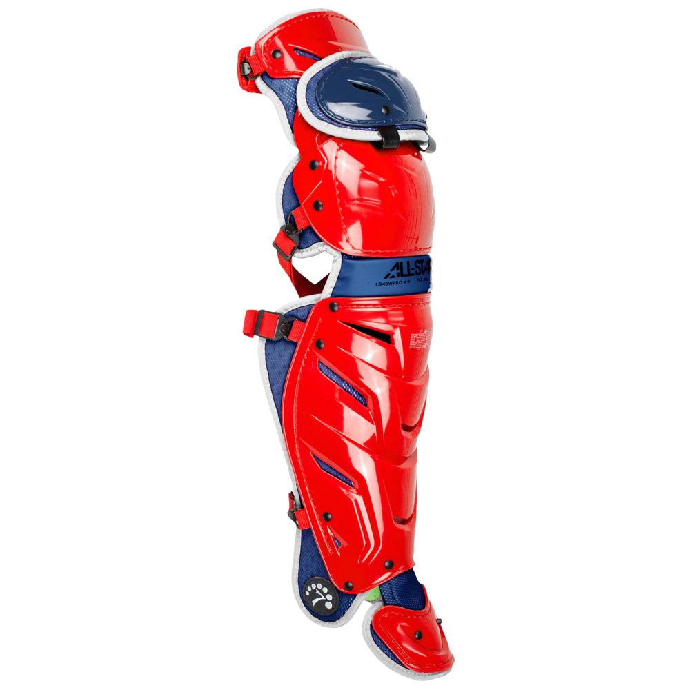 オールスター All Star ユニセックス 野球 レガーズ プロテクター【System 7 Axis Leg Guard】Red/White/Blue