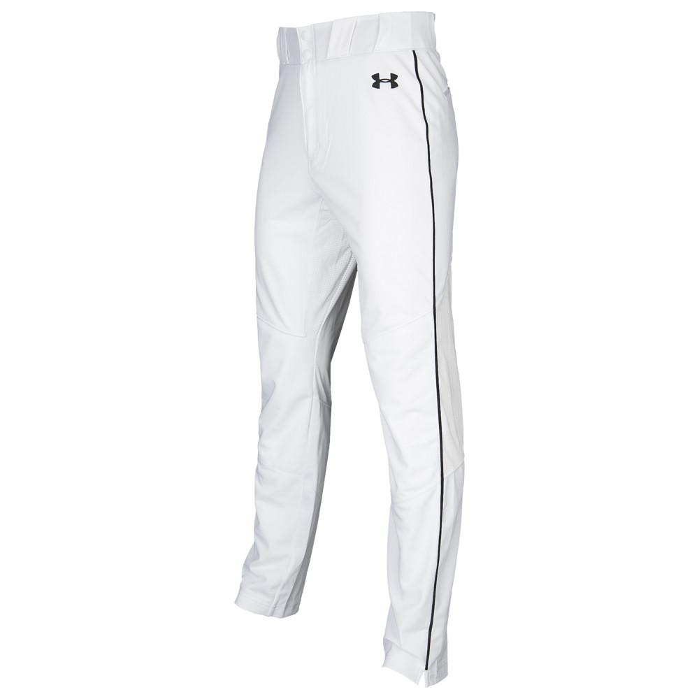 アンダーアーマー Under Armour メンズ 野球 ボトムス・パンツ【Ace Relaxed Piped Pants】White/Black