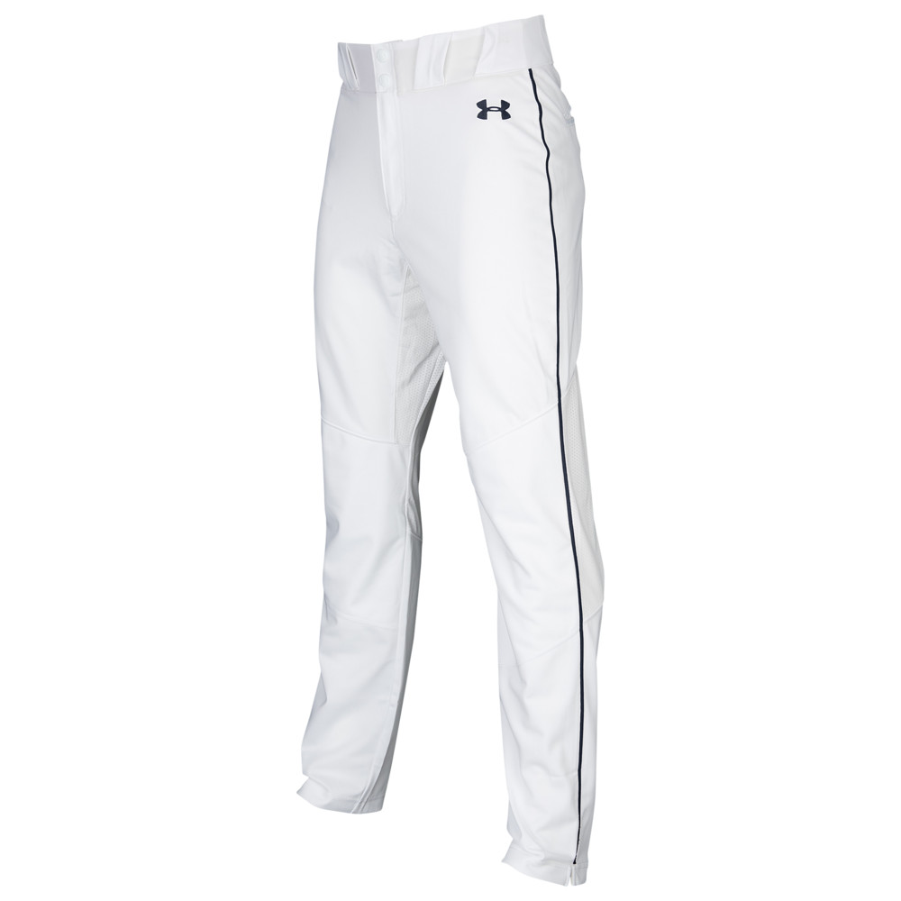 アンダーアーマー Under Armour メンズ 野球 ボトムス・パンツ【Ace Relaxed Piped Pants】White/Midnight Navy/Midnight Navy