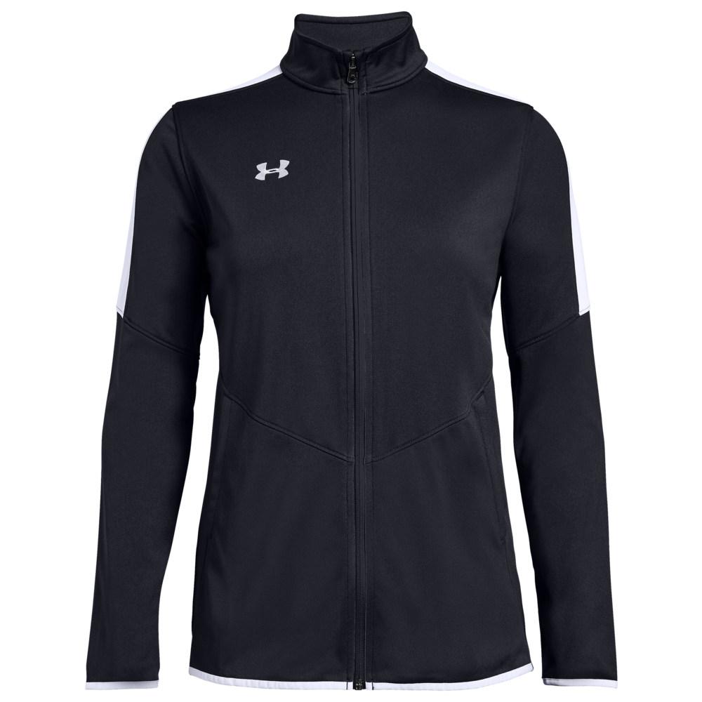 アンダーアーマー Under Armour Team レディース フィットネス・トレーニング ジャケット アウター【Team Rival Knit Warm-Up Jacket】Black/White