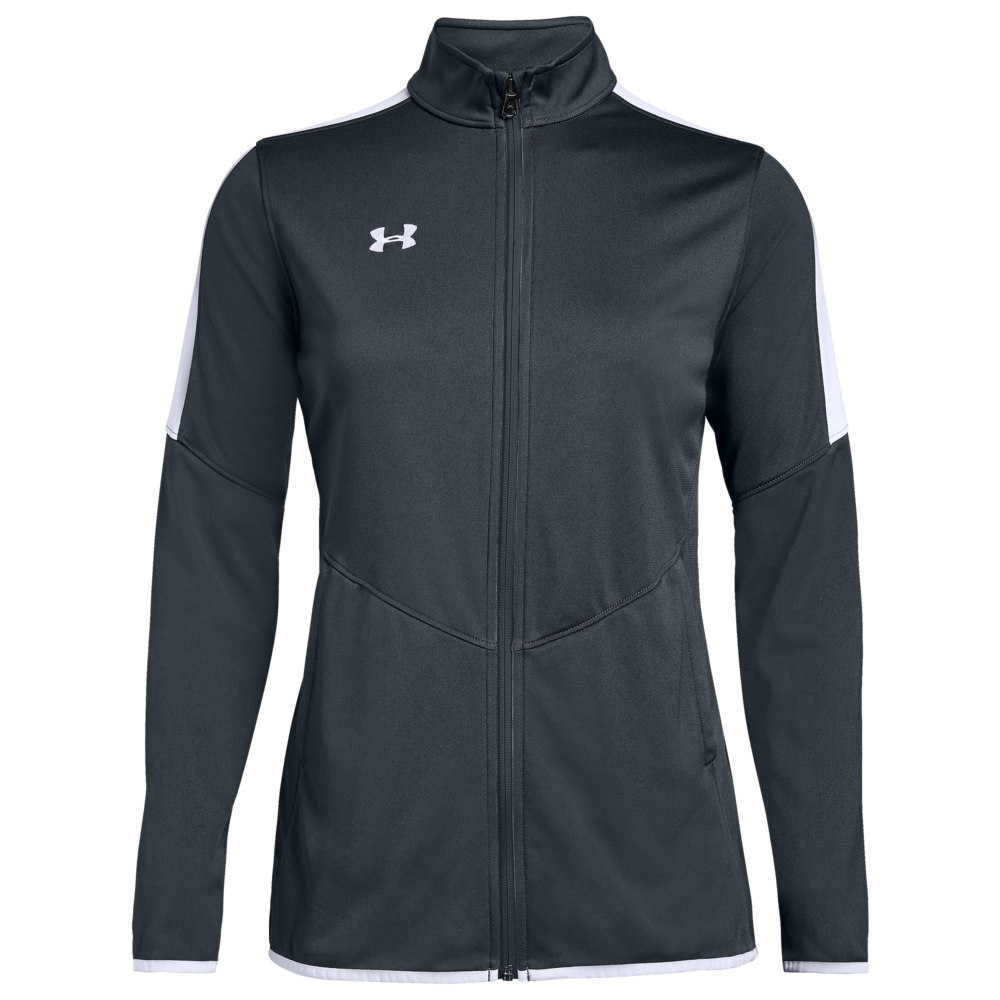 アンダーアーマー Under Armour Team レディース フィットネス・トレーニング ジャケット アウター【Team Rival Knit Warm-Up Jacket】Steel Grey/White