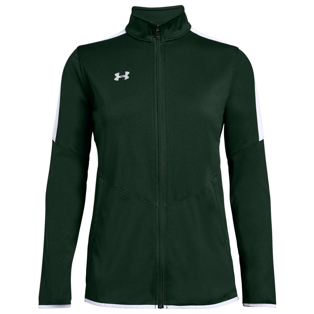 アンダーアーマー Under Armour Team レディース フィットネス・トレーニング ジャケット アウター【Team Rival Knit Warm-Up Jacket】Green/White