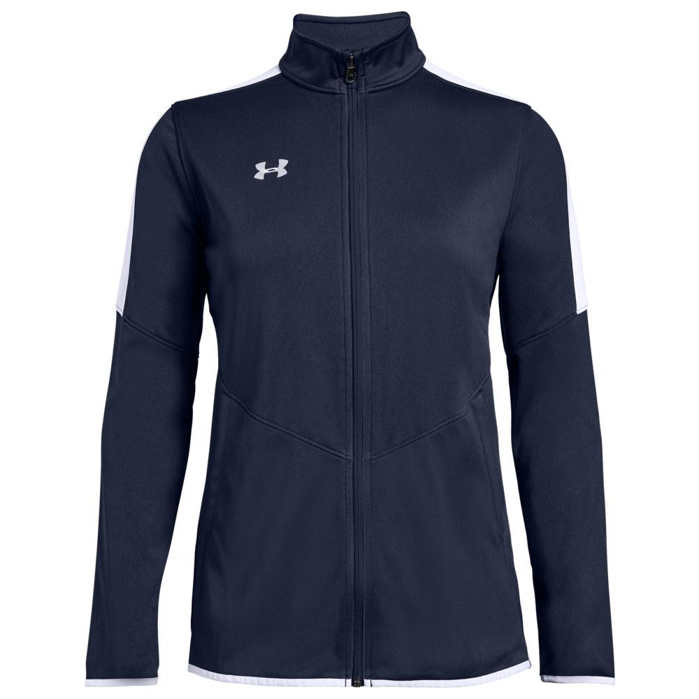 アンダーアーマー Under Armour Team レディース フィットネス・トレーニング ジャケット アウター【Team Rival Knit Warm-Up Jacket】Midnight/White