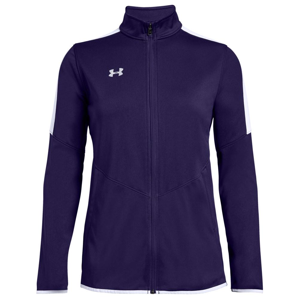 アンダーアーマー Under Armour Team レディース フィットネス・トレーニング ジャケット アウター【Team Rival Knit Warm-Up Jacket】Purple/White