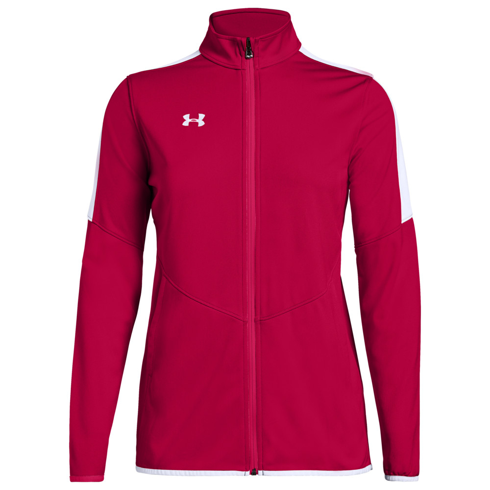 アンダーアーマー Under Armour Team レディース フィットネス・トレーニング ジャケット アウター【Team Rival Knit Warm-Up Jacket】Red/White