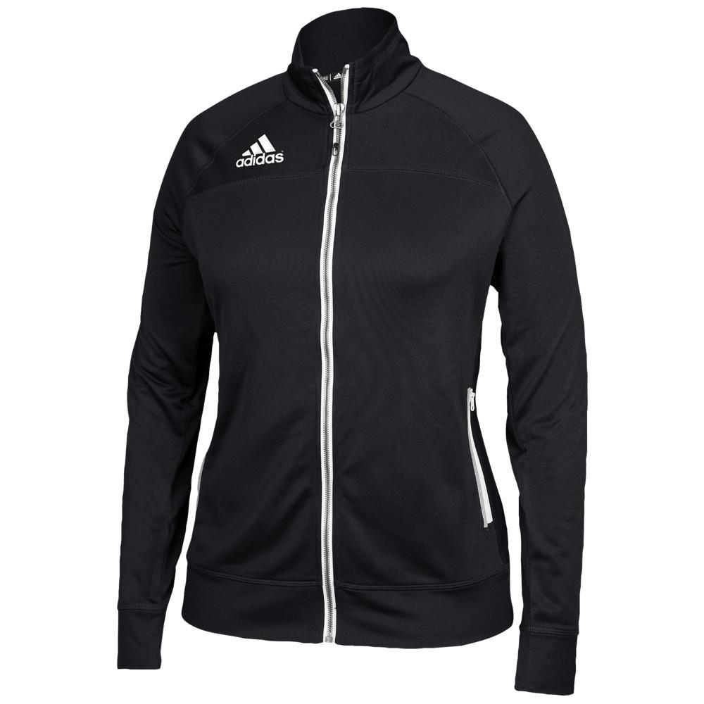 アディダス adidas レディース フィットネス・トレーニング ジャケット アウター【Team Utility Jacket】Black/White