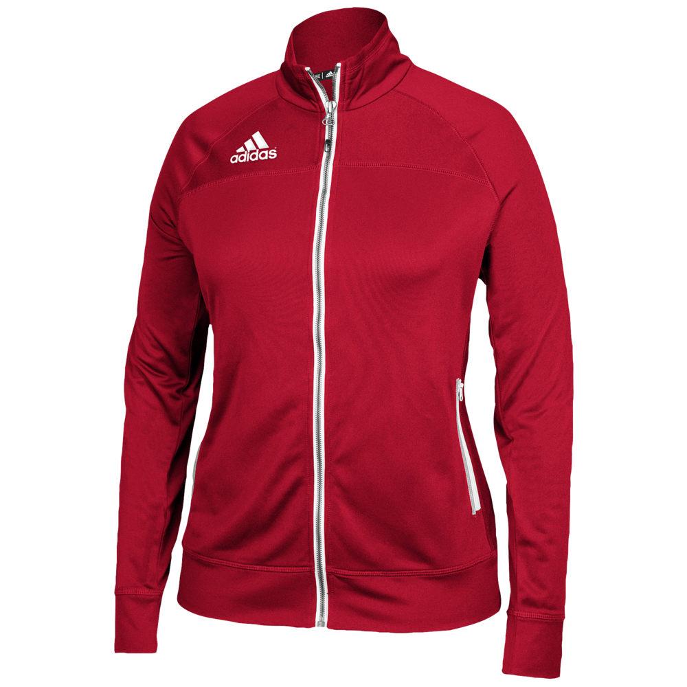 アディダス adidas レディース フィットネス・トレーニング ジャケット アウター【Team Utility Jacket】Power Red/White
