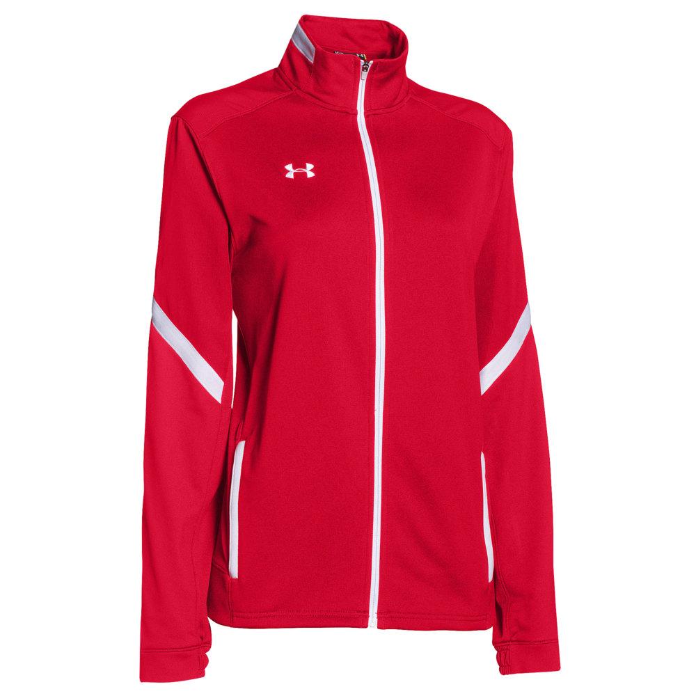 アンダーアーマー Under Armour レディース フィットネス・トレーニング ジャケット アウター【Team Qualifier Warm-Up Jacket】Team Red/White