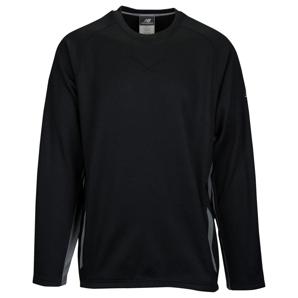 ニューバランス New Balance メンズ 野球 トップス【Pullover Fleece Crew 2.0】Black