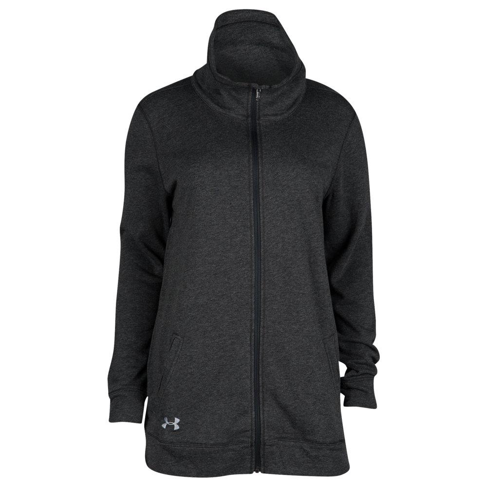 アンダーアーマー Under Armour レディース フィットネス・トレーニング ジャケット アウター【Team Terry Traveler Full Zip Jacket】Black