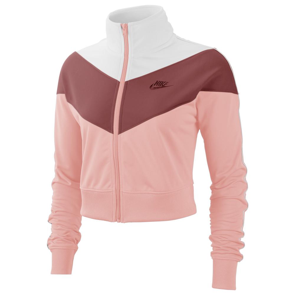 ナイキ Nike レディース ジャージ アウター【Heritage Track Jacket】Bleached Coral/Light Redwood/White