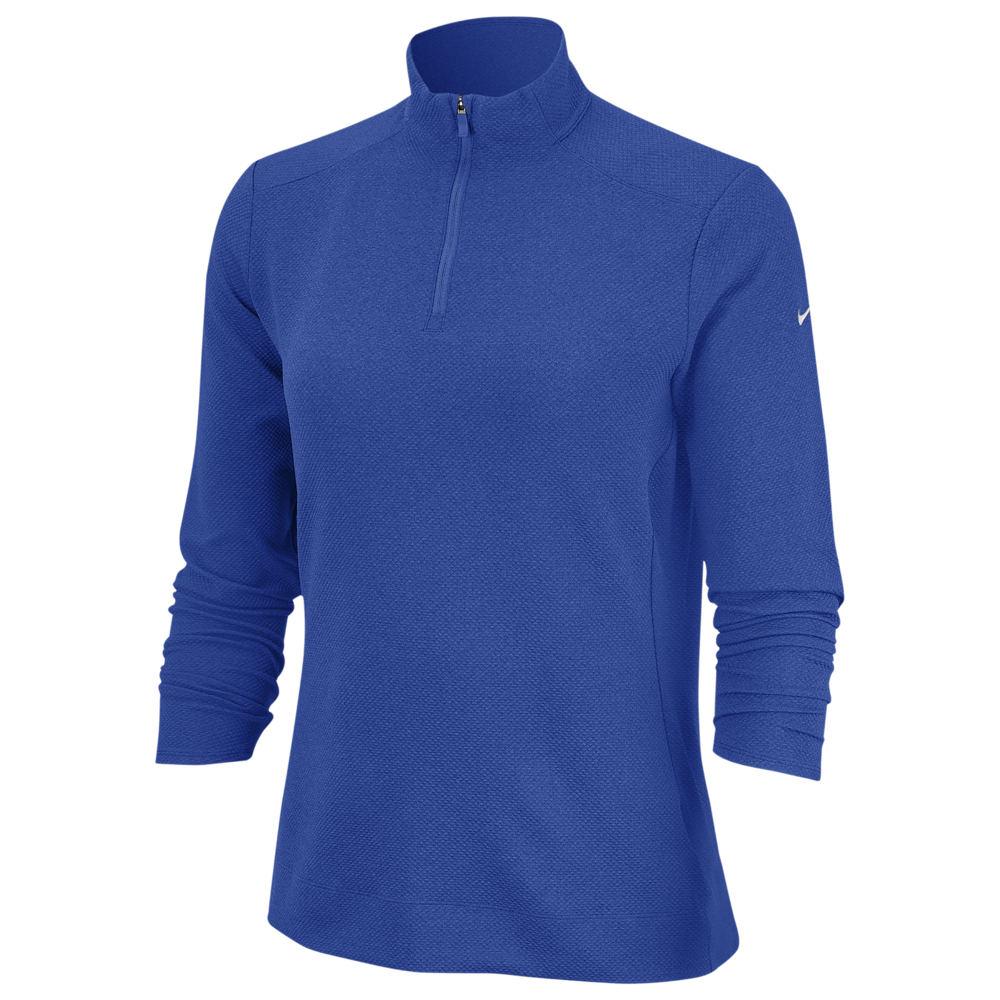 ナイキ Nike レディース ゴルフ ドライフィット トップス【Dri-FIT UV 1/4 Zip Golf Top】Game Royal/White