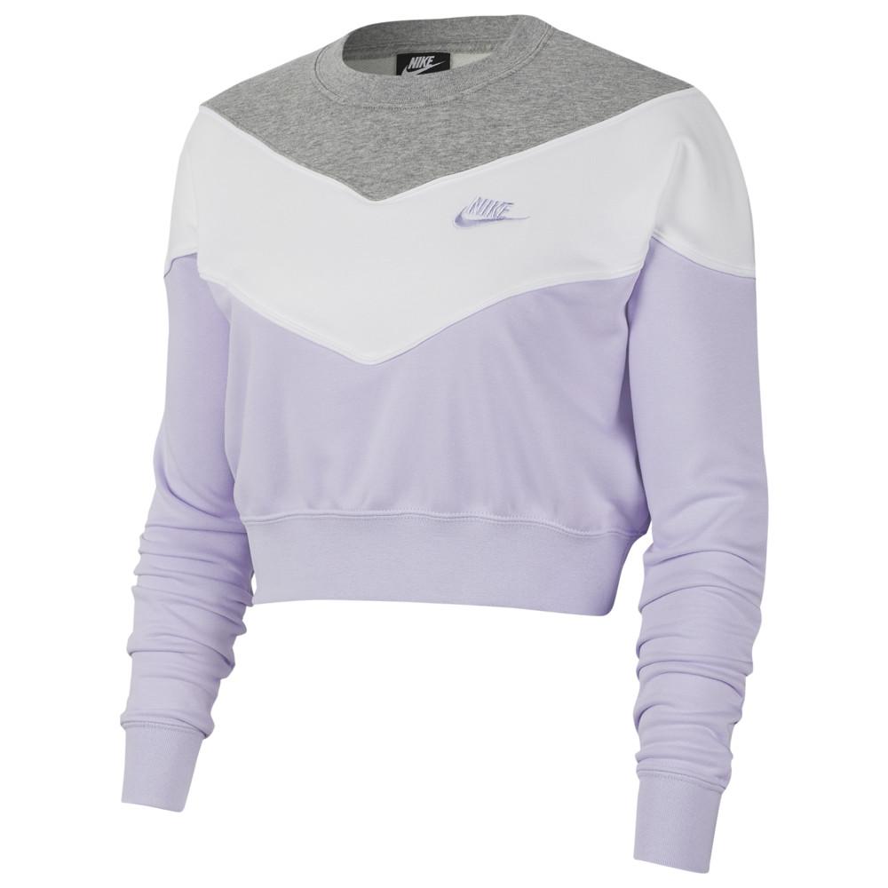 ナイキ Nike レディース トップス 【Heritage Crew】Lavender Mist/Dark Grey Heather/White