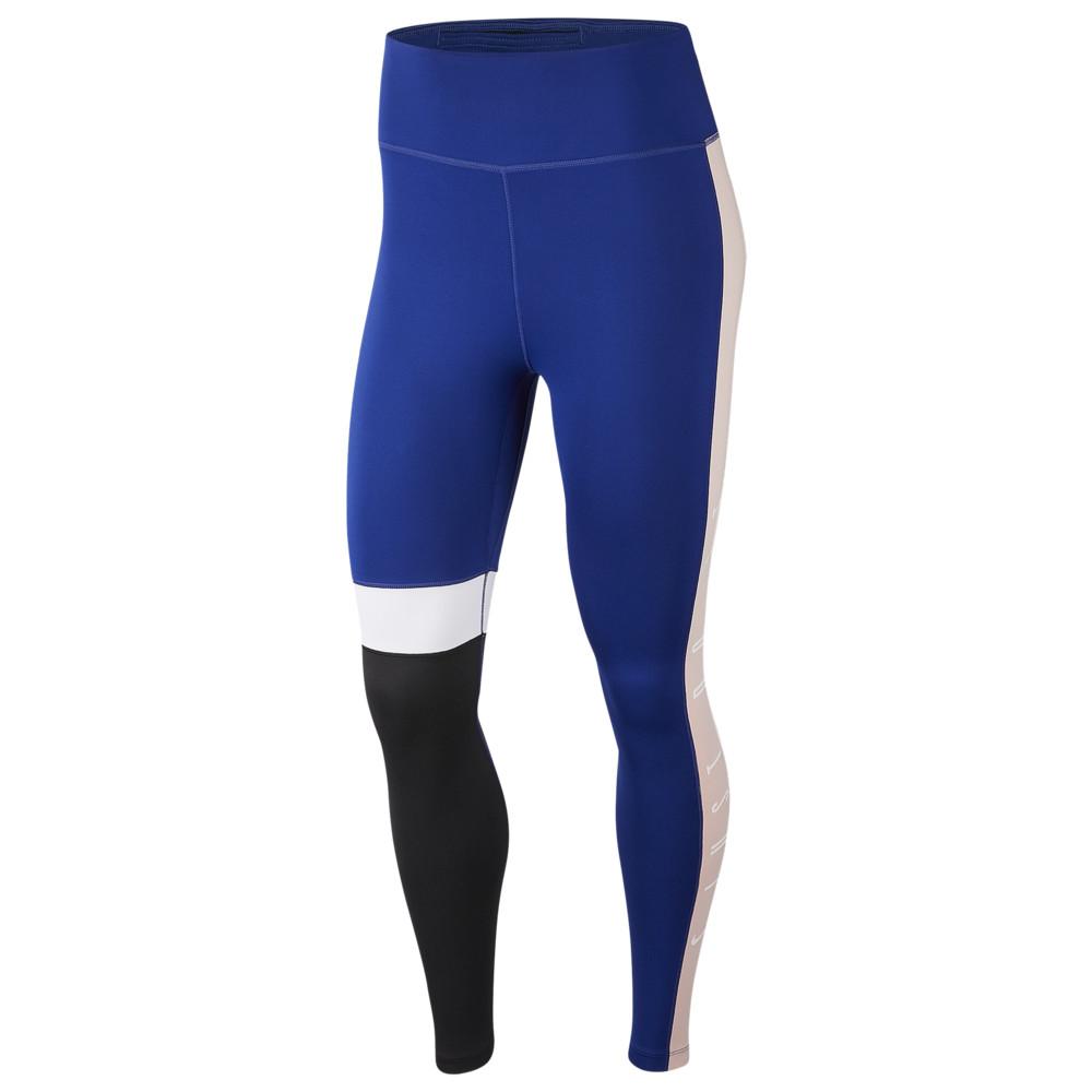 ナイキ Nike レディース フィットネス・トレーニング タイツ・スパッツ スパッツ・レギンス ボトムス・パンツ【One Hi-Rise JDI 7/8 Club Tights】Deep Royal Blue/Black/Echo Pink