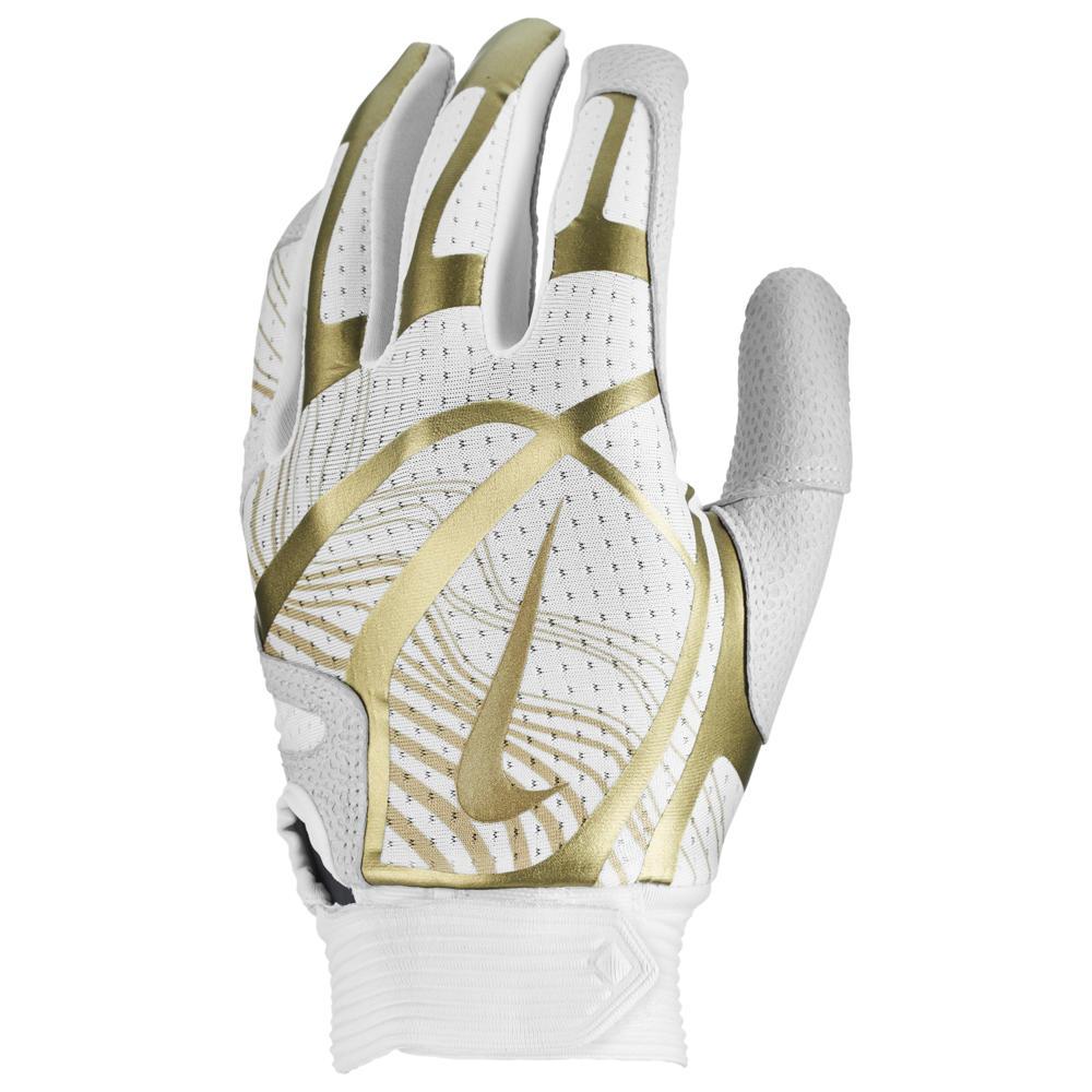 ナイキ Nike レディース 野球 バッティンググローブ グローブ【Hyperdiamond Pro Batting Gloves】White/White/Gold/Gold