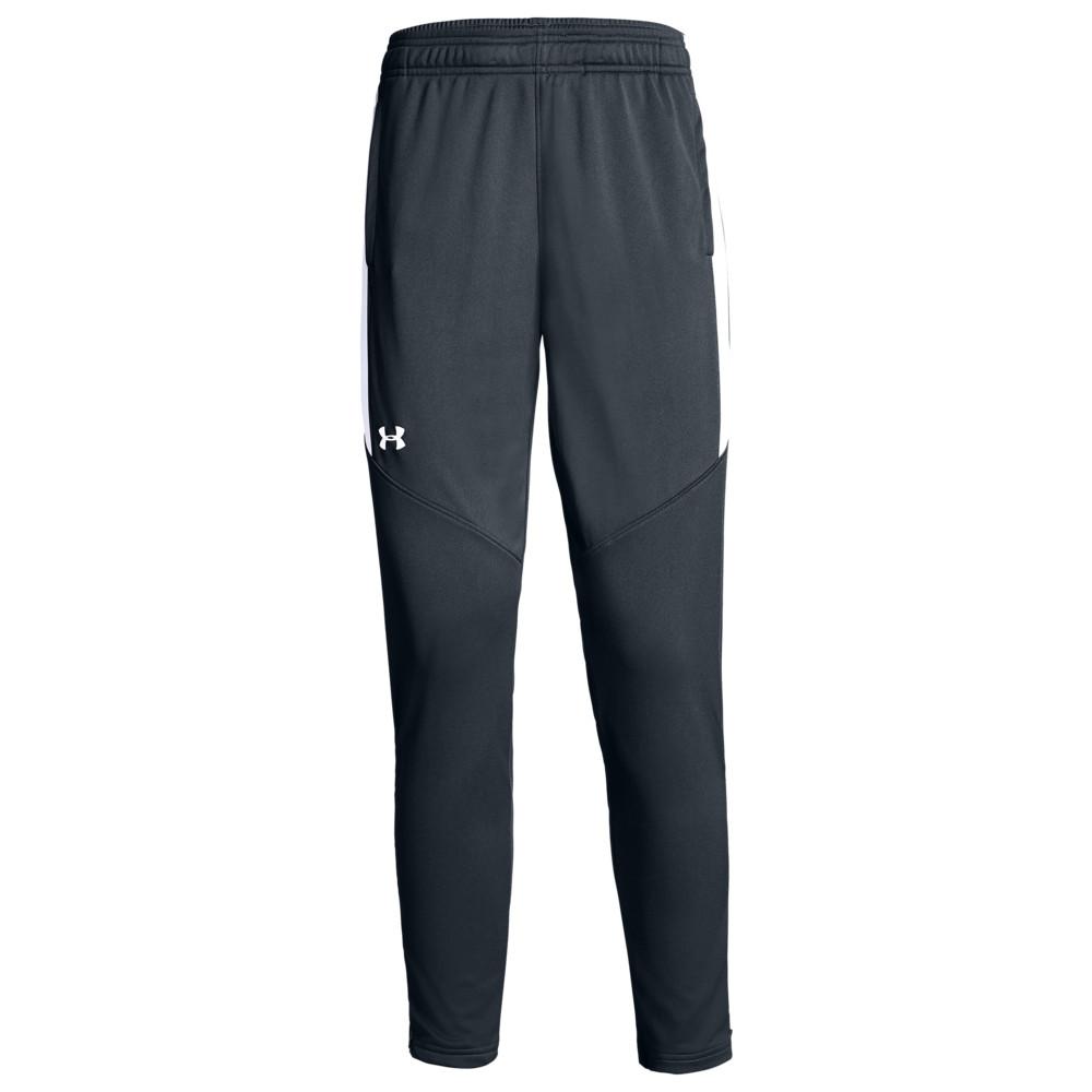 アンダーアーマー Under Armour Team レディース フィットネス・トレーニング ボトムス・パンツ【Team Rival Knit Warm-Up Pants】Steel Grey/White