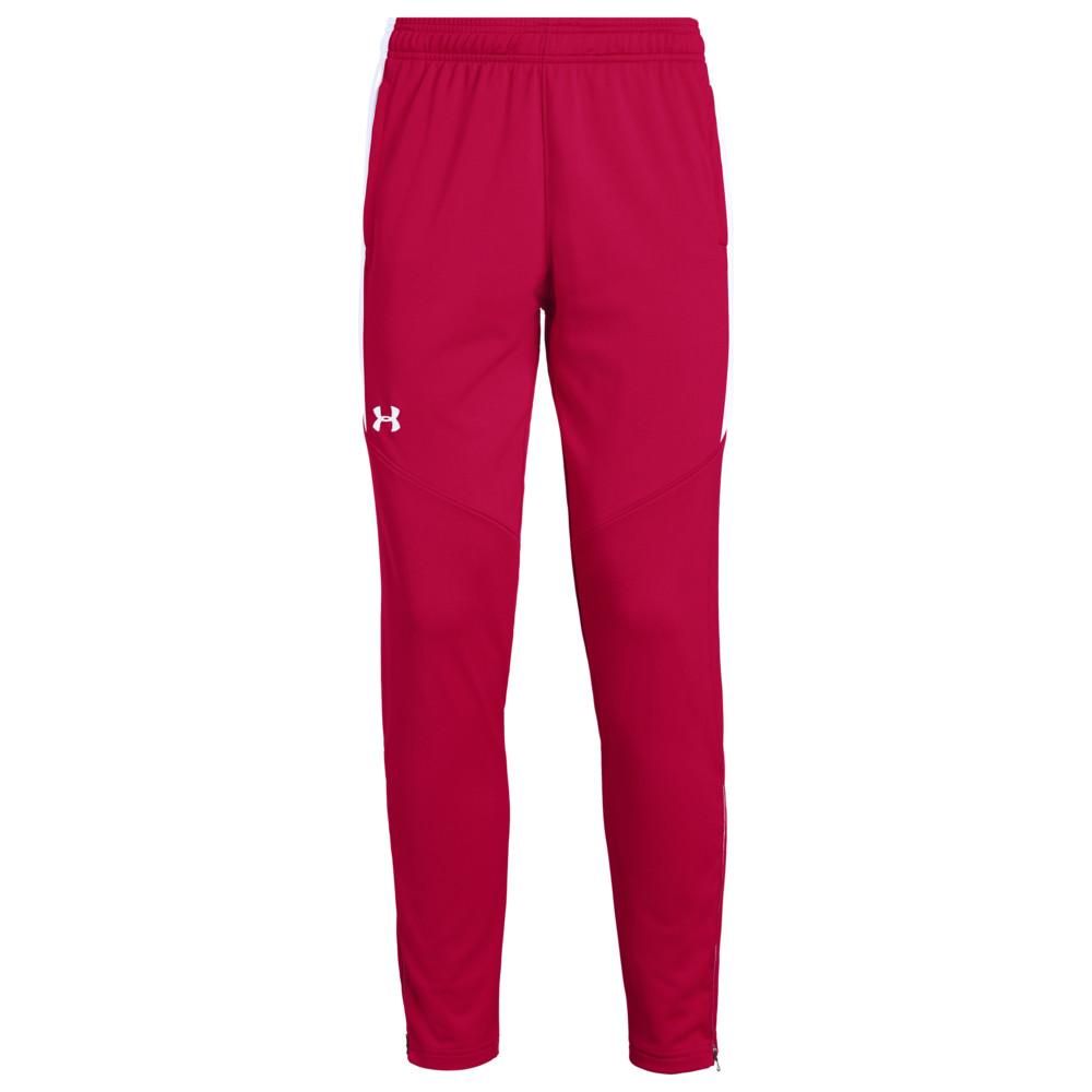 アンダーアーマー Under Armour Team レディース フィットネス・トレーニング ボトムス・パンツ【Team Rival Knit Warm-Up Pants】Red/White