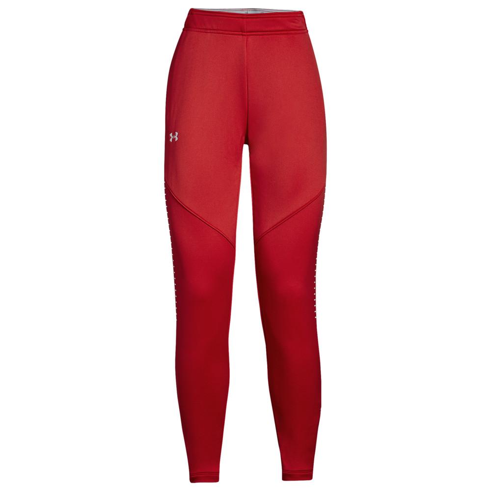 アンダーアーマー Under Armour レディース フィットネス・トレーニング ボトムス・パンツ【Team Qualifier Hybrid Warm-Up Pants】Red/White