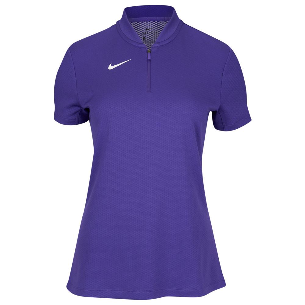 ナイキ Nike レディース フィットネス・トレーニング トップス【Team Authentic Dry Blade S/S Polo】Court Purple/White