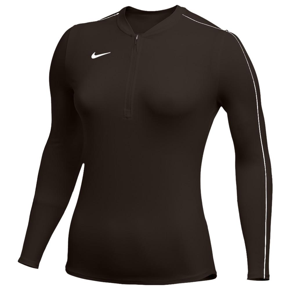 ナイキ Nike レディース フィットネス・トレーニング ハーフジップ トップス【Team Authentic Dry 1/2 Zip Top】Dark Cinder/White