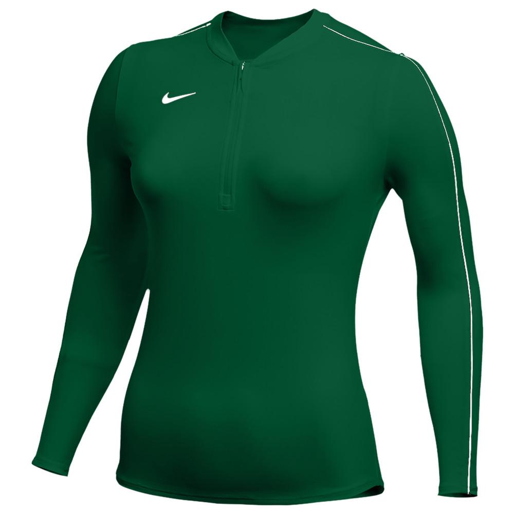 ナイキ Nike レディース フィットネス・トレーニング ハーフジップ トップス【Team Authentic Dry 1/2 Zip Top】Gorge Green/White