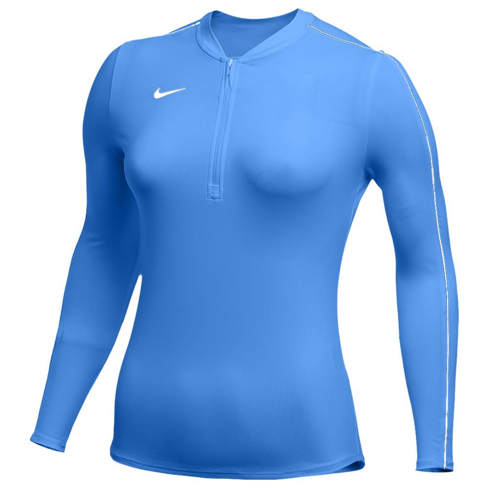ナイキ Nike レディース フィットネス・トレーニング ハーフジップ トップス【Team Authentic Dry 1/2 Zip Top】Valor Blue/White