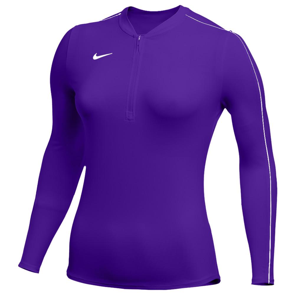 ナイキ Nike レディース フィットネス・トレーニング ハーフジップ トップス【Team Authentic Dry 1/2 Zip Top】Court Purple/White