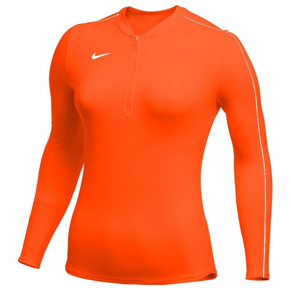 ナイキ Nike レディース フィットネス・トレーニング ハーフジップ トップス【Team Authentic Dry 1/2 Zip Top】Team Orange/White