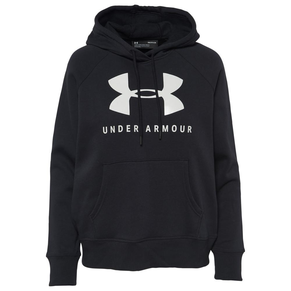 アンダーアーマー Under Armour レディース パーカー トップス【Rival Graphic Hoodie】Black/Onyx White