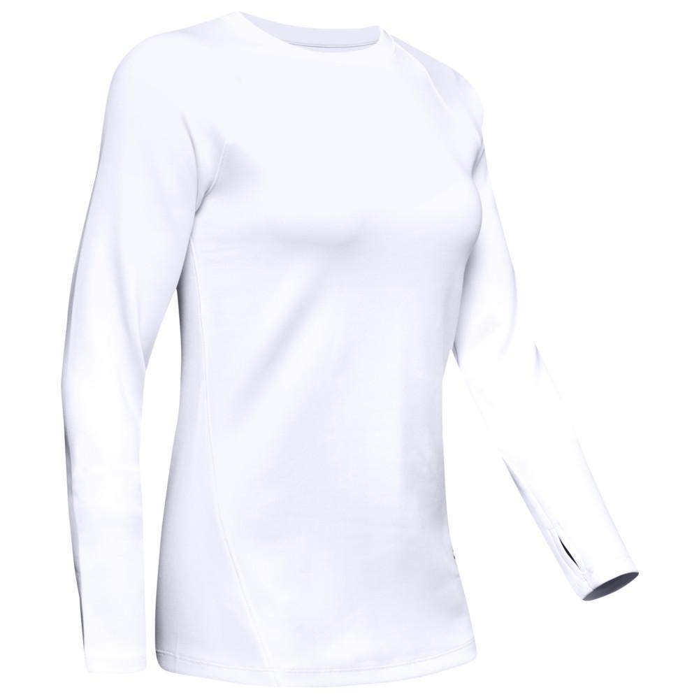 アンダーアーマー Under Armour レディース フィットネス・トレーニング 長袖Tシャツ トップス【ColdGear Armour L/S T-Shirt】White