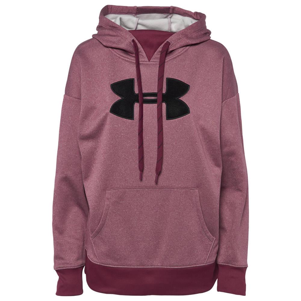 アンダーアーマー Under Armour レディース フィットネス・トレーニング パーカー トップス【Chenille Logo Hoodie】Level Purple Light Heather/White