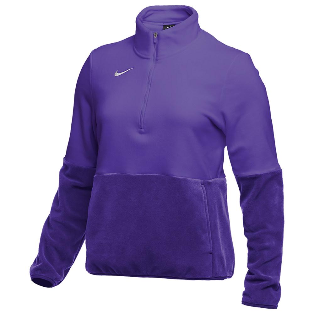 ナイキ Nike レディース フィットネス・トレーニング ハーフジップ トップス【Team Authentic Fleece 1/2 Zip Top】Court Purple/White