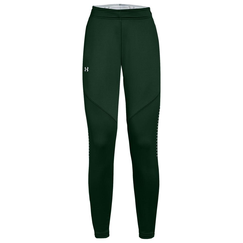 アンダーアーマー Under Armour レディース フィットネス・トレーニング ボトムス・パンツ【Team Qualifier Hybrid Warm-Up Pants】Green/White