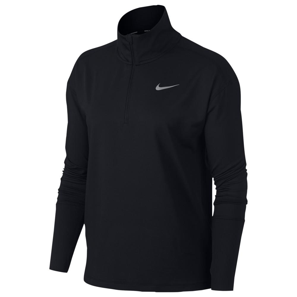 ナイキ Nike レディース フィットネス・トレーニング ハーフジップ トップス【Element 1/2 Zip Top】Black Reflective Silver