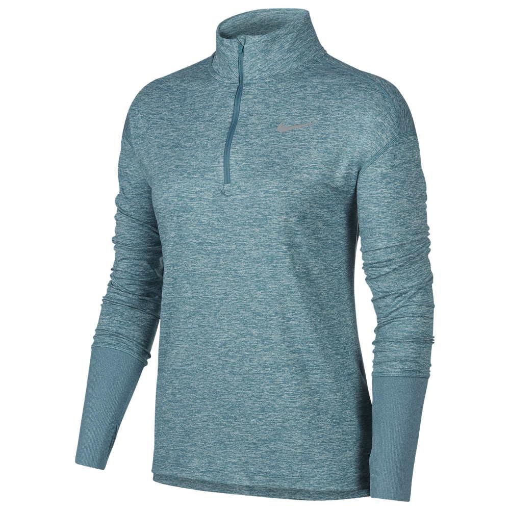 ナイキ Nike レディース フィットネス・トレーニング ハーフジップ トップス【Element 1/2 Zip Top】Mineral Teal/Heather Reflective Silver