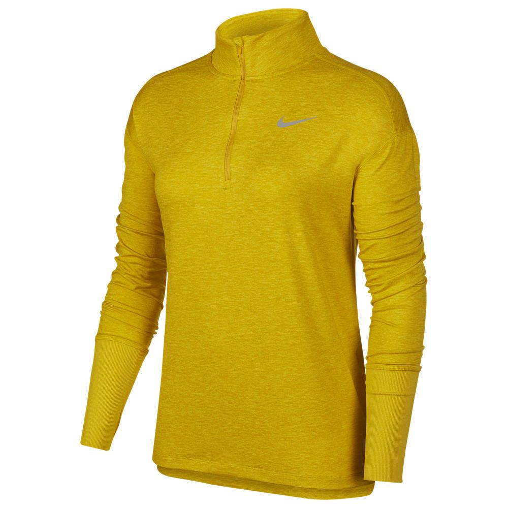 ナイキ Nike レディース フィットネス・トレーニング ハーフジップ トップス【Element 1/2 Zip Top】Chrome Yellow/Dark Sulfer/Heather Reflective Silver