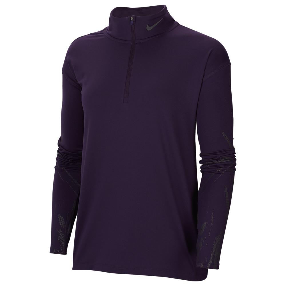 ナイキ Nike レディース フィットネス・トレーニング トップス【Element Flash Half-Zip GX Top】Grand Purple Reflective Black