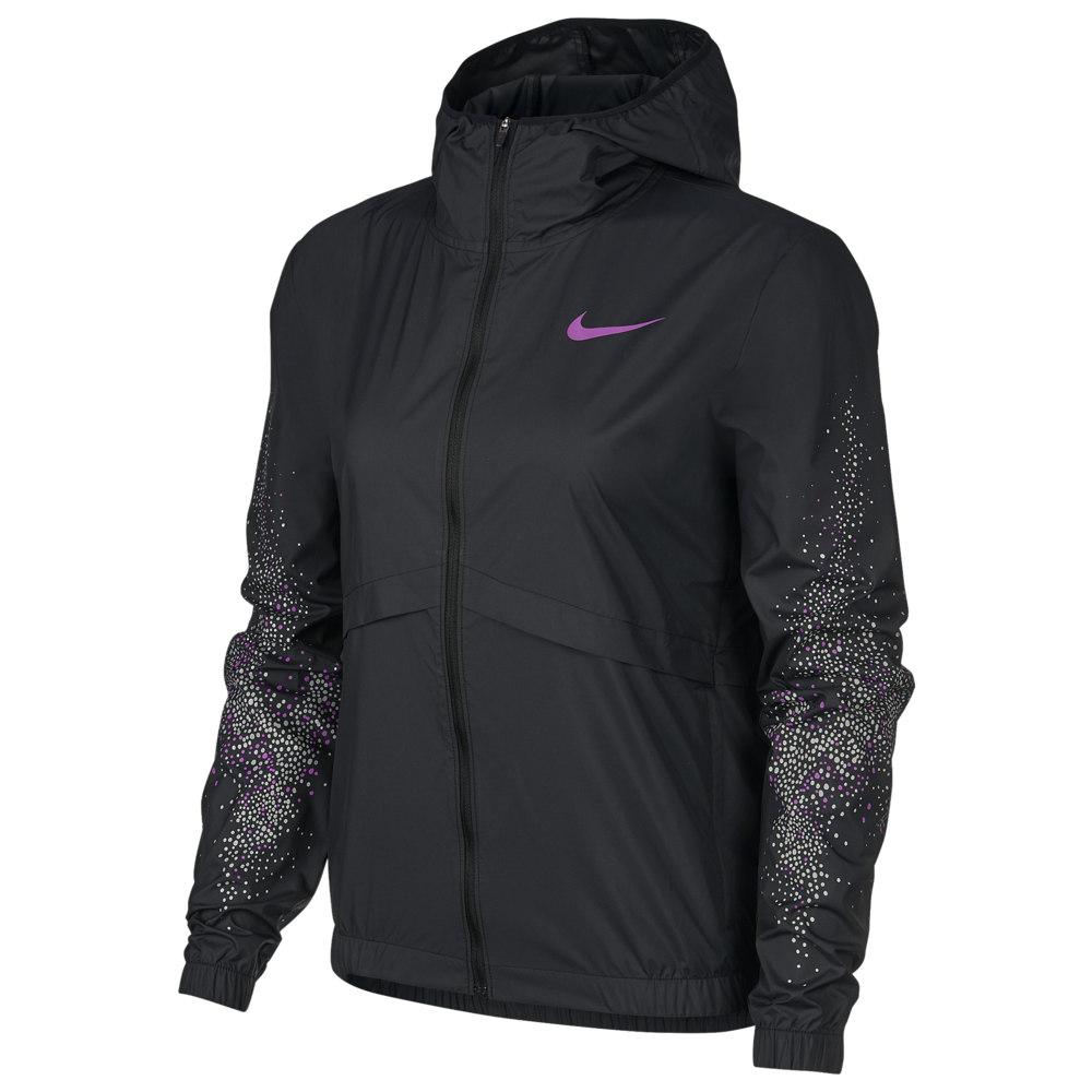 ナイキ Nike レディース フィットネス・トレーニング ジャケット アウター【Essential Jacket】Black/Vivid Purple