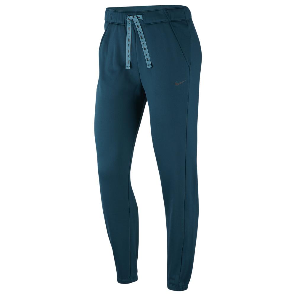 ナイキ Nike レディース フィットネス・トレーニング テーパードパンツ ボトムス・パンツ【Therma Fleece All Time Tapered Pants】Midnight Turquoise/Black